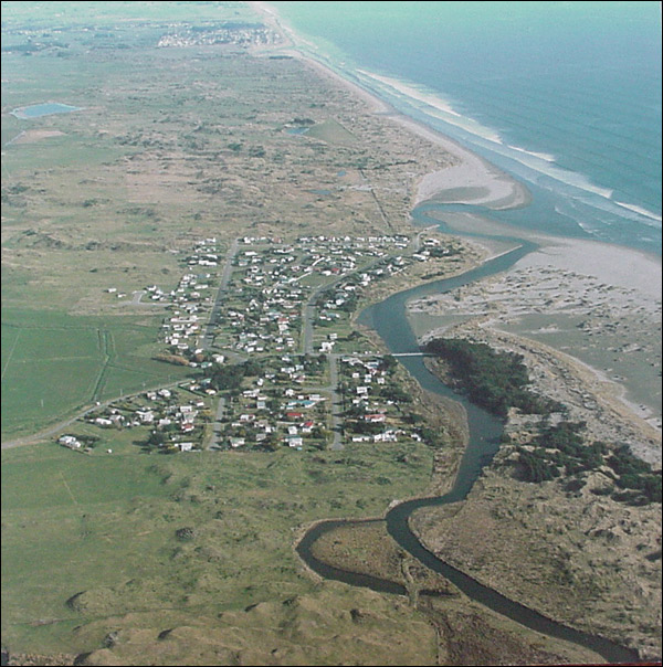 Looking south towards Otaki Beach 1993.